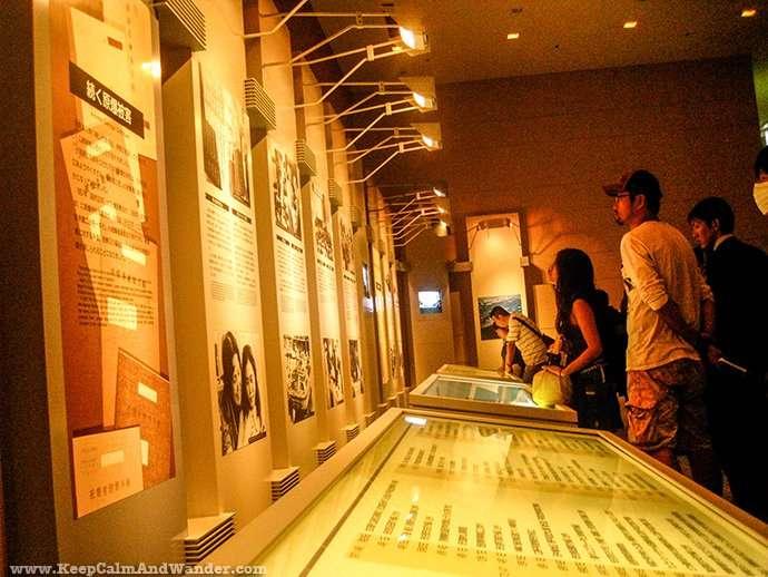 Peace Memorial Museum in Hiroshima, Japan.
