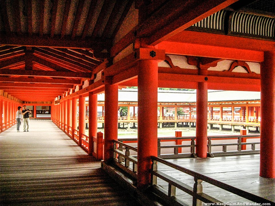 Itsukushima Shrine in Miyajima Island is just outside Hiroshima in Japan