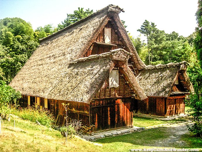 Open Museum of Traditional Houses in Osaka, Japan.