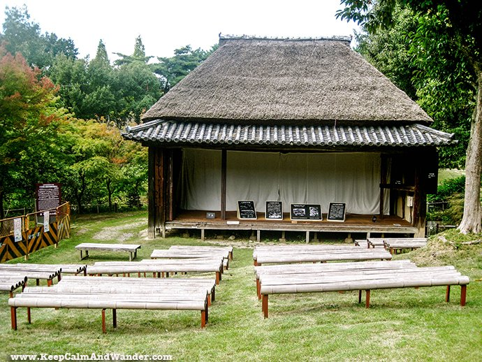 Open Air Museum of Traditional Houses in Osaka, Japan.
