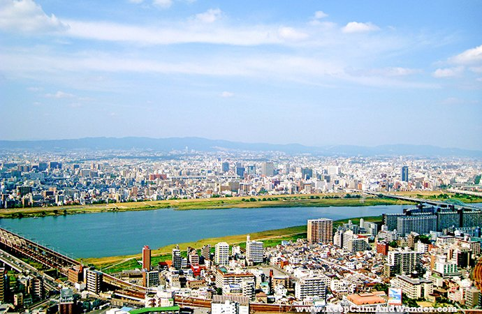 Osaka's Skyline from Umeda Sky Building.
