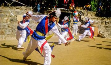 Traditional Korean Dance and Music at Korean Folk Village in Suwon, Seoul, South Korea.