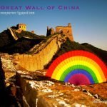 Sort of Pride Parade at the Great Wall of China