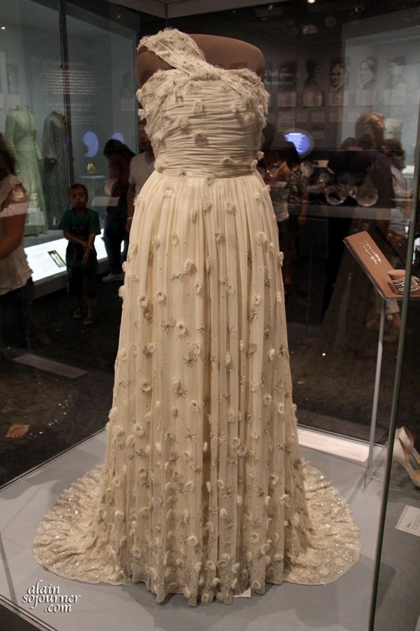 Michelle Obama's dress at the National Museum of American History.