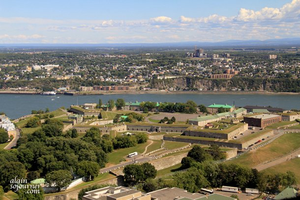 View of Quebec City from the Observatory de la Capitale.