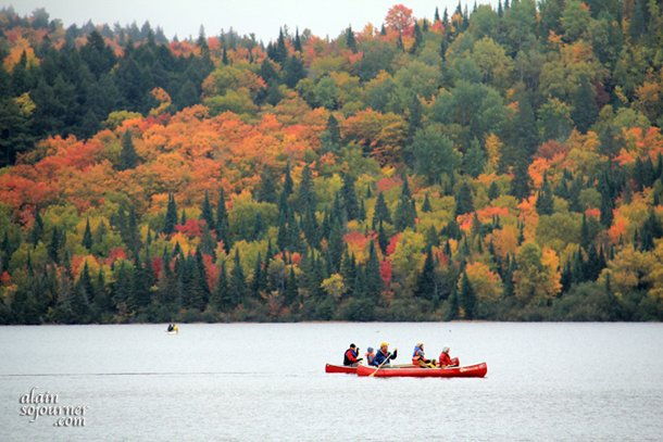 Lake of Two Rivers campground in Algonquin Park in Fall.