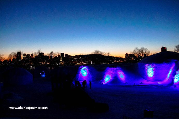 Snow Village in Montreal a.k.a. Village des Neiges