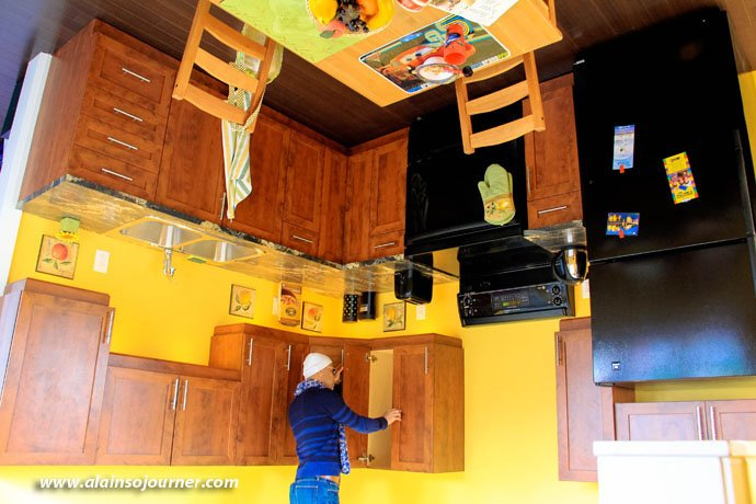 Niagara Upside Down House Kitchen