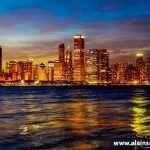 Chicago Skyline Night 9