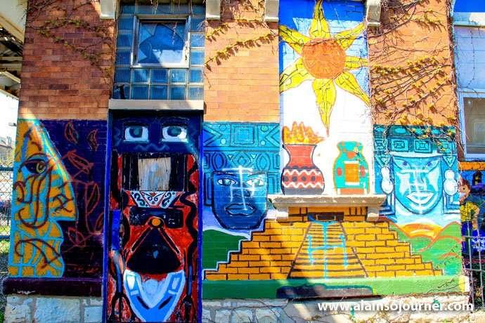 Mural in Pilsen neighborhood in Chicago.