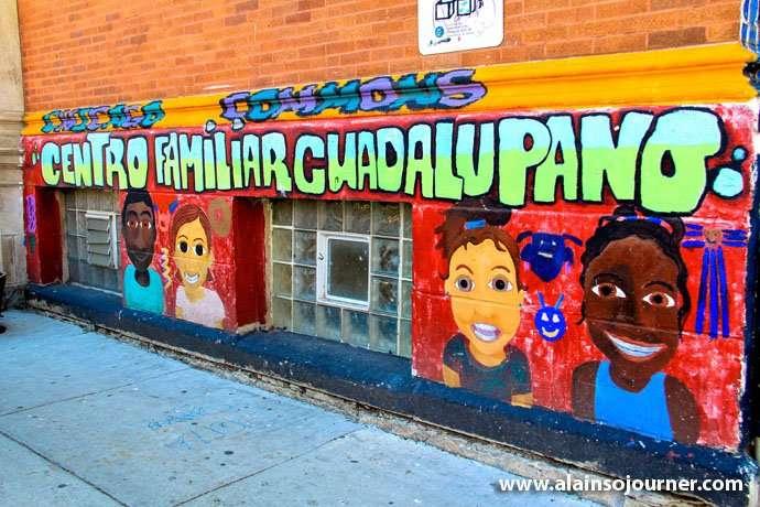 Graffiti Mural in Pilsen neighborhood in Chicago.