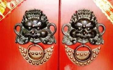 Chinese Doors Dragon Lion 5