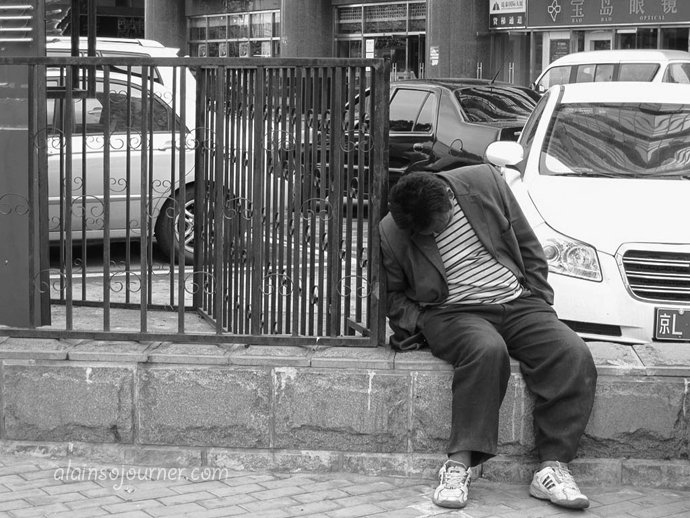 Life in China Outdoor Nappers Beijing 18