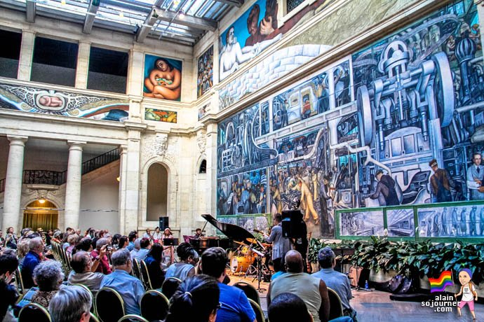 Diego Rivera Murals inside the Detroit Institute of Arts.