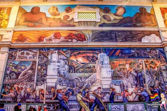 Detroit Industry Mural at DIA (Michigan).