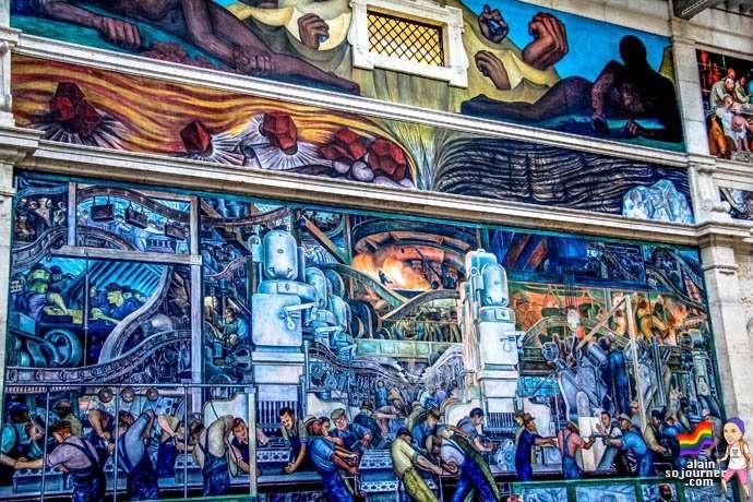 Diego Rivera Murals inside the Detroit Institute of Arts (DIA).