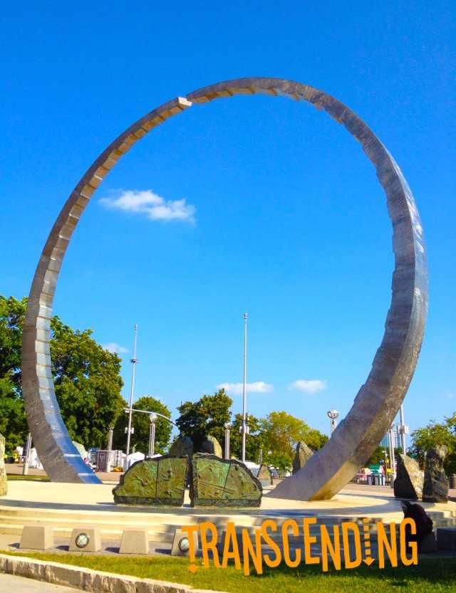 Public Art in Detroit by David Barr West jefferson Avenue at Woodward Avenue