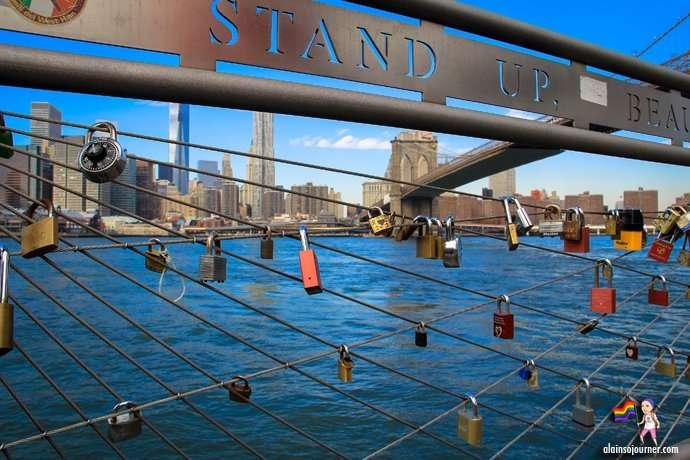 Lover's Lock in Brooklyn Bridge Heights