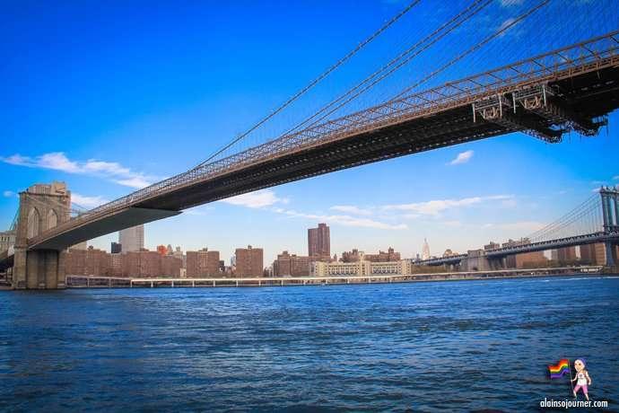 Brooklyn Bridge View of New York Manhattan