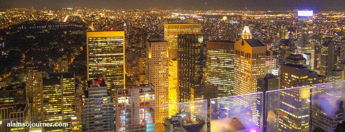 Rockefeller Center Night New York Skyline 1