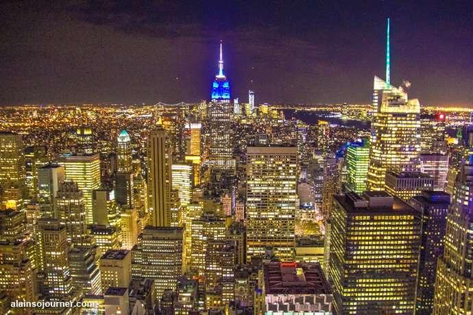 Rockefeller Center Night New York Skyline 15