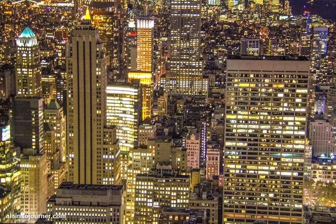 Rockefeller Center Night New York Skyline at night