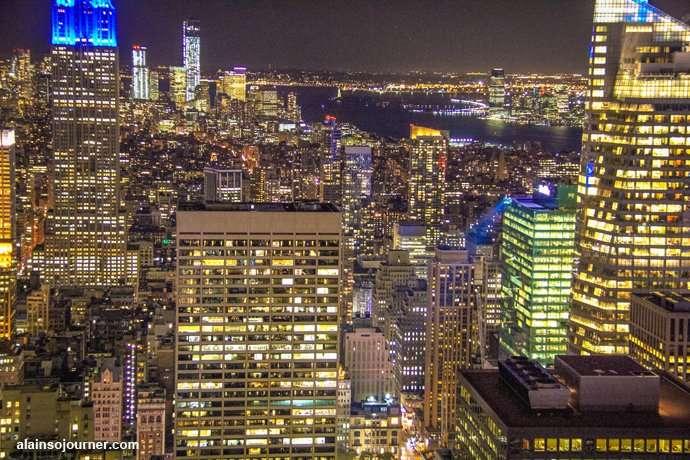 Rockefeller Center Night New York Skyline 17