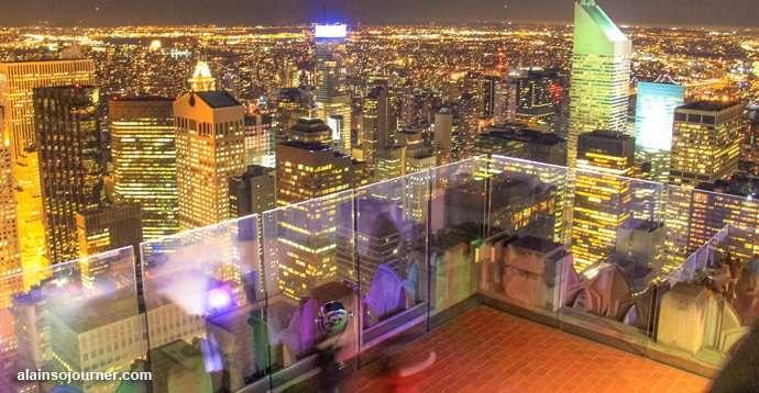 Rockefeller Center Night New York Skyline 2