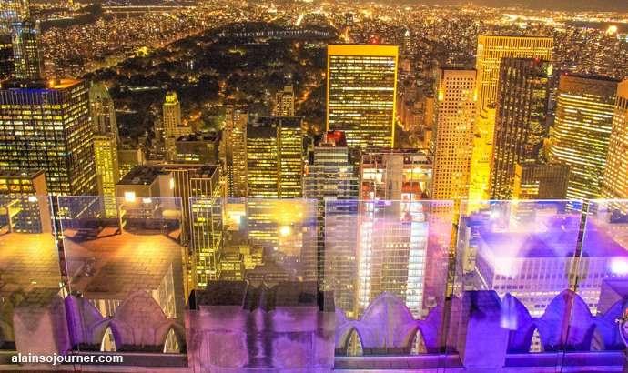 Rockefeller Center Night New York Skyline