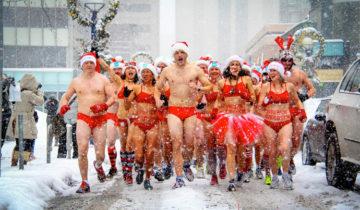 Naked Santa Speedo Run 2013 Toronto