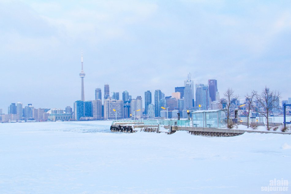 Frozen Toronto in Snow