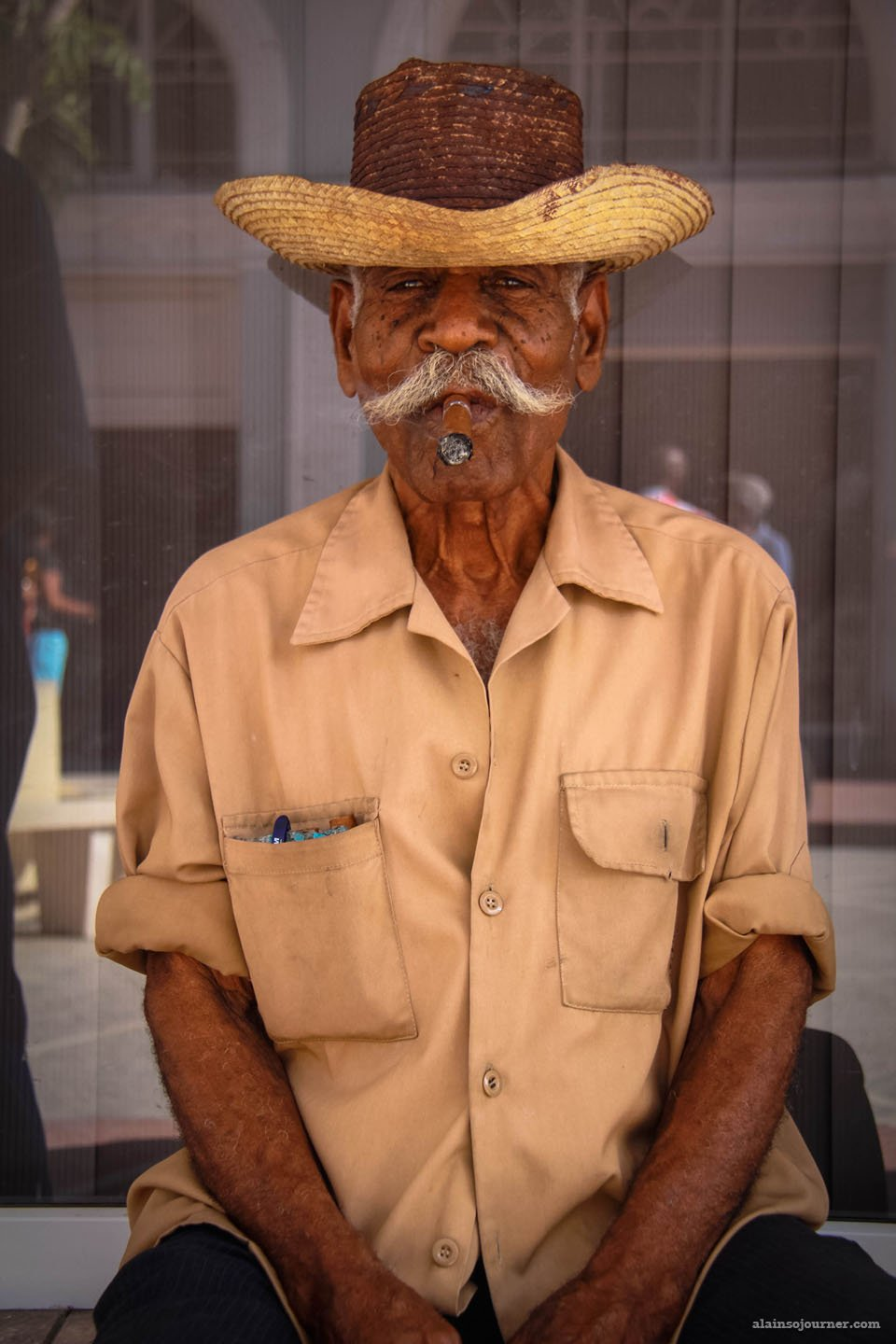 man with a cigar in Cuba
