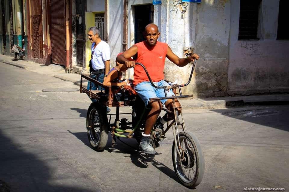 Bici taxi in Havana