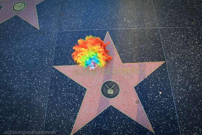 Ellen De Generes Walk of Fame Hollywood Star