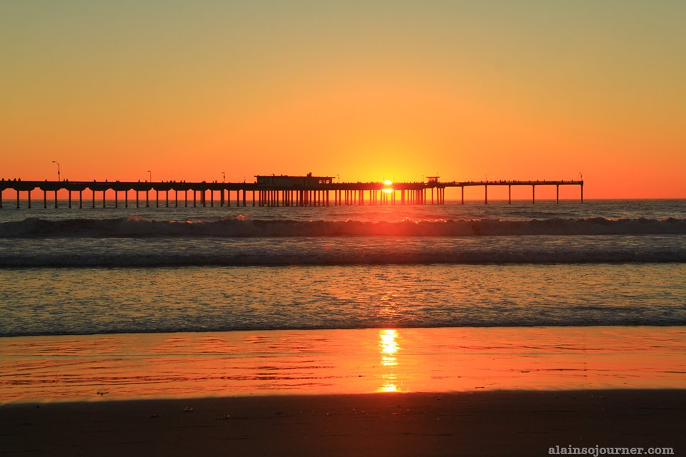 Ocean Beach sunset in San Diego