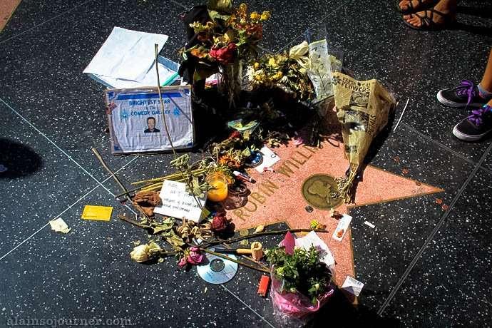 Robin Williams Walk of fame Star Hollywood Boulevard Los Angeles
