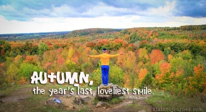 Fall Colours in Mono Cliffs Ontario Canada