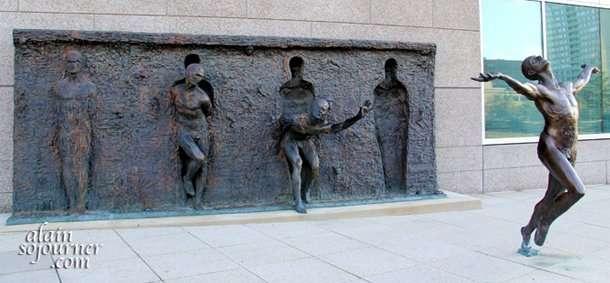 The Freedom Sculpture in Philadelphia is designed by Zenos Frudakis.