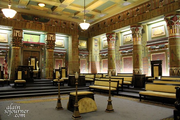 inside the Masonic Temple in Philadelphia.