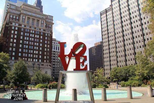 Love Statue in Philadelphia.