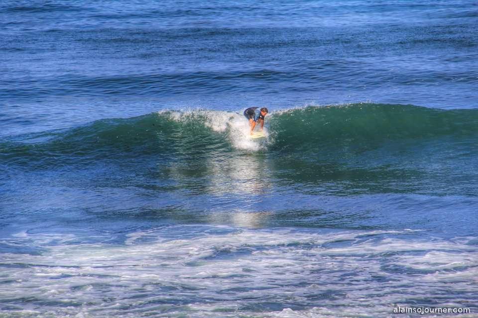 The surfer in La Jolla, San Diego, California.