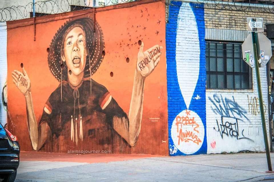 Bushwick Murals / Street Art in Brooklyn, New York.