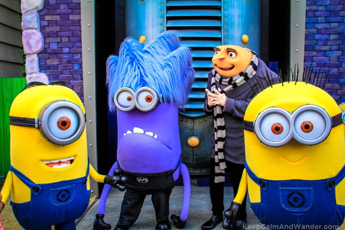 Despicable Me Minions / What to do and see at Universal Studios in Los Angeles.
