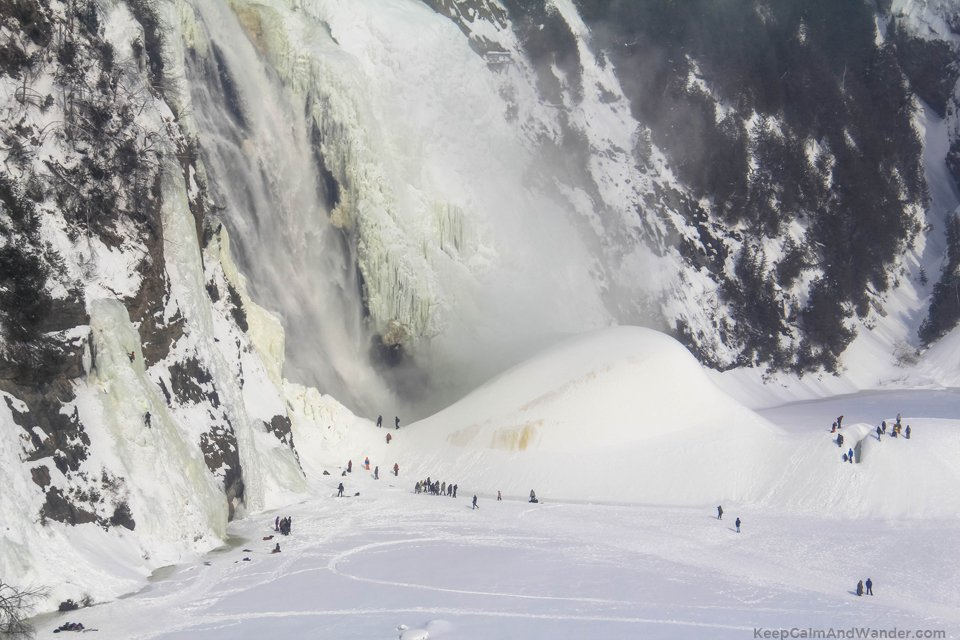 The Frozen Beauty of Montmorency Falls in Quebec City.