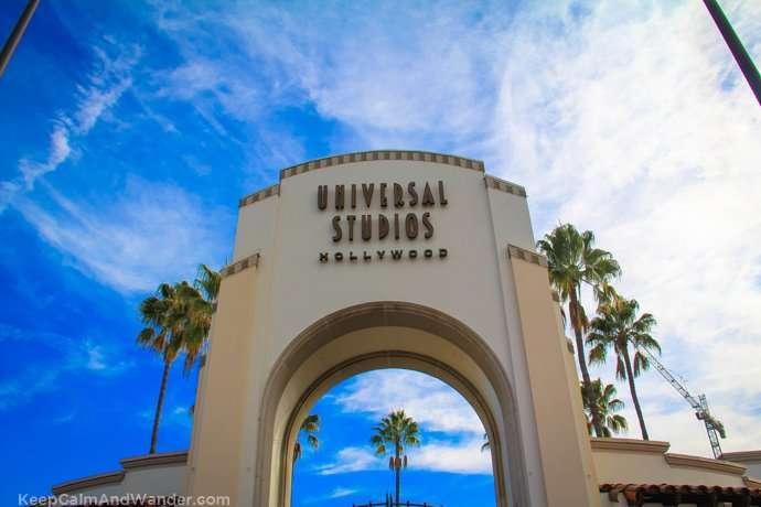 Universal Studios Gate in Los Angeles.