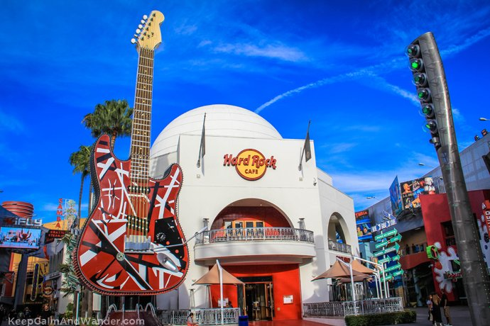 Hard Rock Cafe at Universal Studios in Los Angeles.