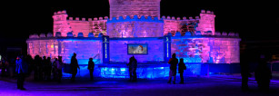 Ice Castle and Ice Sculptures in Quebec City for 2015 Winter Carnaval.