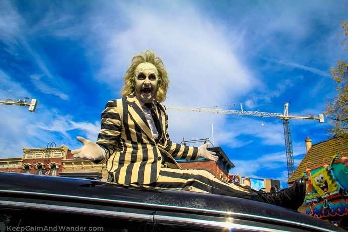 Joker at the Universal Studios (Los Angeles) Parade.