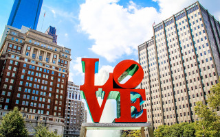I found love in many places Philadelphia Love Statue