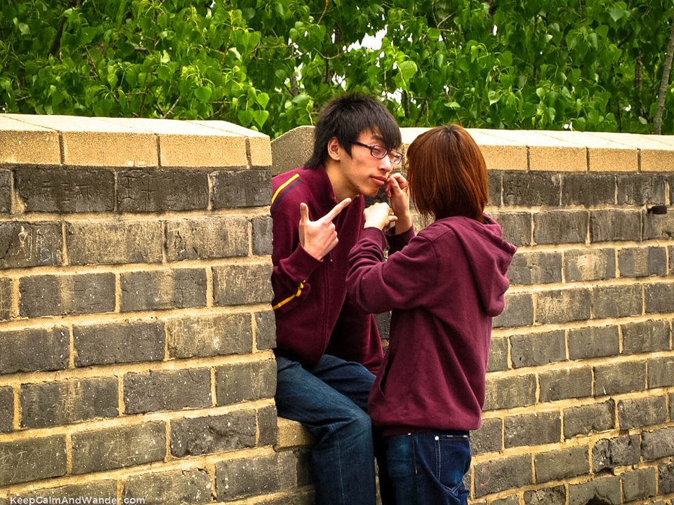 Love at the Great Wall in China